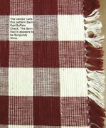 Barn Red Buffalo Check Table Runner Burgundy Wine Farmhouse Dining 14wx45l