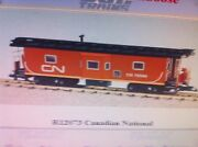 Usa Trains G Scale 12073 Bay Window Caboose Canadian National - Red/black
