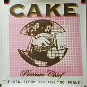 Cake - Pressure Chief - Orig. Promo Poster 2002 24 X 24 Heavy Poster Stock Mint