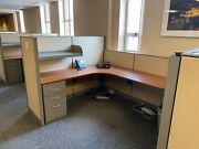 6and039 X 8and039 X 54h / 42h Cubicles Workstations By Steelcase Kick W/ 3and039 Open Shelf