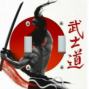 Light Switch Plate And Outlet Covers Japanese Samurai Warrior Black Red