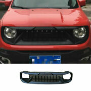 For Jeep Renegade 2015 2016-2018 Abs Black Front Upper Bumper Mesh Grill Grille