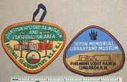 2 Boy Scout Museum Patches - Philmont Ranch And Johnston National Headquarters Bsa