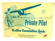 Private Pilot Written Examination Guide Department Of Transportation 1967