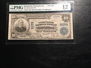 National Bank Note Pa Kittanning Pmg 12 Fine Last Large Sold 361.00 In Vf