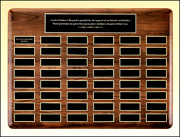 Perpetual Series Solid American Walnut Boards With Brass Engraving Plates 3 Size