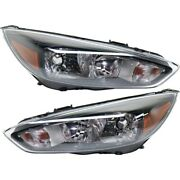 Headlight Lamp Left-and-right Fo2502337c Fo2503337c Lh And Rh For Ford Focus