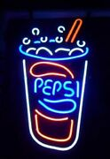Pepsi Drink 20x16 Neon Sign Light Lamp Beer Bar With Dimmer