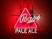 Bass Pale Ale 20x16 Neon Sign Light Lamp Beer Bar With Dimmer