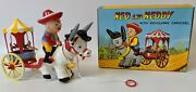 Vintage 1960's Ok, Hong Kong Ned And Neddy Pull Toy W/ Revolving Carousel