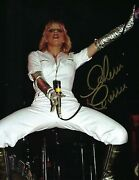 Cherie Currie The Runaways Live White Jumpsuit Signed 8.5x11 Photo Print