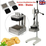 Commercial Manual Potato French Fries Cutter Vegetable Slicer Machine + 2 Blades
