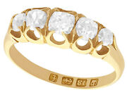 0.78ct Diamond And 18ct Yellow Gold Five Stone Ring - Antique Victorian - Size K