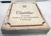 1964-1974 Cadillac Dealer Master Parts And Accessories Catalog Book Manual List