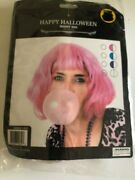Short Wig Happy Halloween 11.5 Inches White Gray Cosplay