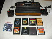 Atari 2600 4 Switch With Joysticks Adapter 8 Games Space Invaders Asteroids
