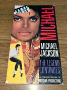 Michael Jackson The Legend Continues Vhs Tape Documentary