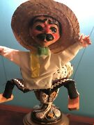Vintage Handmade Mexican Entertainer Marionette String Puppet Hand Painted