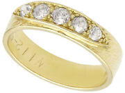 Antique Vintage 0.40 Ct Old Cut Diamond And 18k Yellow Gold Dress Ring