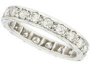 Vintage 1.00ct Diamond And 18ct White Gold Full Eternity Ring Size O