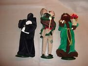 Byers Choice Lot Spirit Future, Present, Cratchit W/ Tiny Tim All 1st Editions