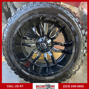 24x14 Fuel Sledge Offroad Wheel And Tire Package 5x5 Jeep Forged Moto Metal