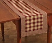 Wine York Table Runner Buffalo Check Country Farmhouse Kitchen Dining 13x54