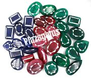 75000ct/15kg 500-1500ct Per Piece Natural Ruby Sapphire And Emerald Gems Big Lot