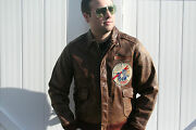 Wwii Original A-2 Flight Jacket Size 40 Named 42nd Fighter Squadron