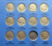 Authentic Rare Buffalo Nickel Collection 1913-38 6 Semi-keys 40 Total Coins