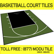 20ft X 24ft Outdoor Basketball Half Court Kit-lines And Edges Included-green/blk