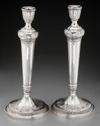 Vintage Pair Of Sterling Silver Weighted 13 3/4 Candlesticks By International