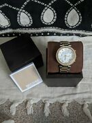 Mk5491 Parker Ladies Wristwatch - Gold/silver With Face Detail