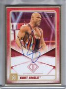 2020 Topps Wwe Transcendent Auto Kurt Angle 1/1 Red Gold Framed Autograph