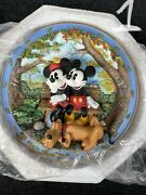 Disney Mickey Mouse And Minnie Mouse Fall Collectible Antique Plates