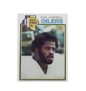 1979 Topps Earl Campbell Houston Oilers 390 Football Card. Sold Separately Mint