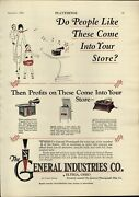 1926 Paper Ad General Industries Elyria Ohio Toy Record Player Phonograph