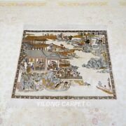 Yilong 2.5and039x3and039 Handwoven Silk Tapestry High Density Pictorial Chinese Rug L024h