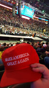 Genuine Trump Rally-worn Maga Hat And Exclusive Trump Card