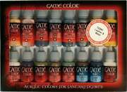 16 Colors 17ml Bottle Leather And Metal Game Color Vallejo Paint Set 72291