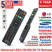 Universal Remote Control Replacement For Lg/sony/tcl/soniq/jvc Smart Led Lcd Tv