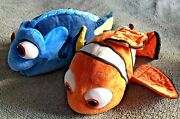 Disney Store Finding Nemo And Finding Dory Soft Toys Good Condition Rare