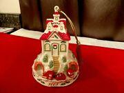 Lenox Ornament 2008 Holiday Ridge House With Train On The Bottom New Unused