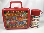 Vintage Pbs Arthur Lunchbox With Thermos By Aladdin- 1996 Marc Brown