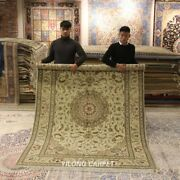 Clearance Yilong 6and039x9and039 Ivory Wool Rugs Home Decor Handiwork Woolen Carpets 1460