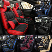Luxury Interior 5-sits Universal Car Seat Covers Pu Leather Cushions Accessories