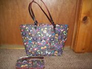 Disney Dooney And Bourke Villain Ears Tote Bag Nwt Retired And Wallet Two Pieces