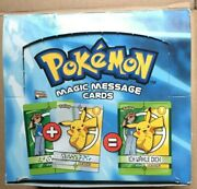 Display Box 36 Boosters Packs Topps Pokemon Magic Message Cards Merlin De 2006