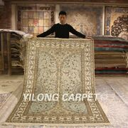 Yilong 5and039x8and039 Blue Handmade Silk Rugs Home Decor Hand Knotted Area Carpets 172ab