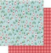 Pebbles Collection Cozy And Bright Paper 12x12 Santa Land